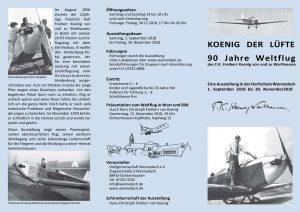 90 Jahre Weltflug! - Große Ausstellung in Wennedach