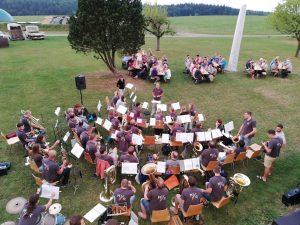 Musikprobe im Schulgarten Wennedach am 02.08.18